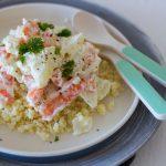 Couscous mit Frischkäsesoße