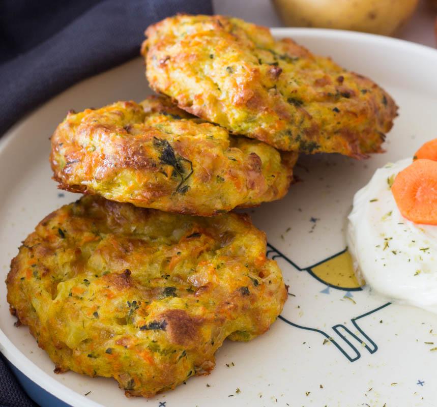 Gemüse-Kartoffel Taler mit Käse - tolles Rezept für Kinder