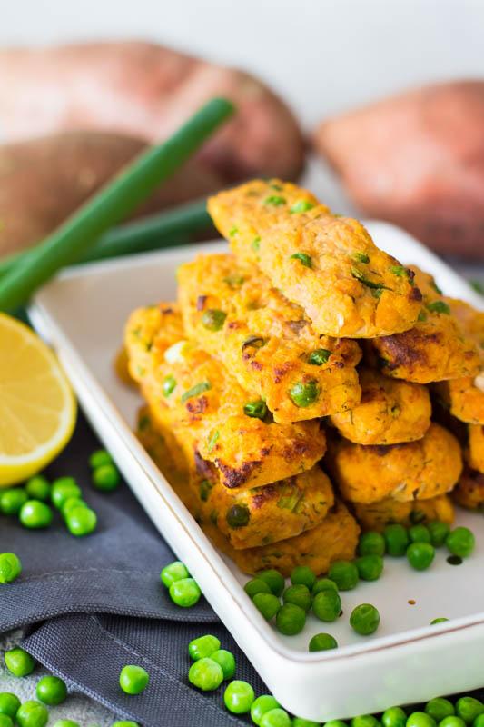 Süßkartoffel-Lachs Stäbchen - Mittagessen für die ganze Familie
