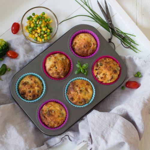 Herzhafte Gemüse Muffins