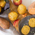 Süßkartoffelbrötchen mit Apfel - gesunde Frühstücksidee