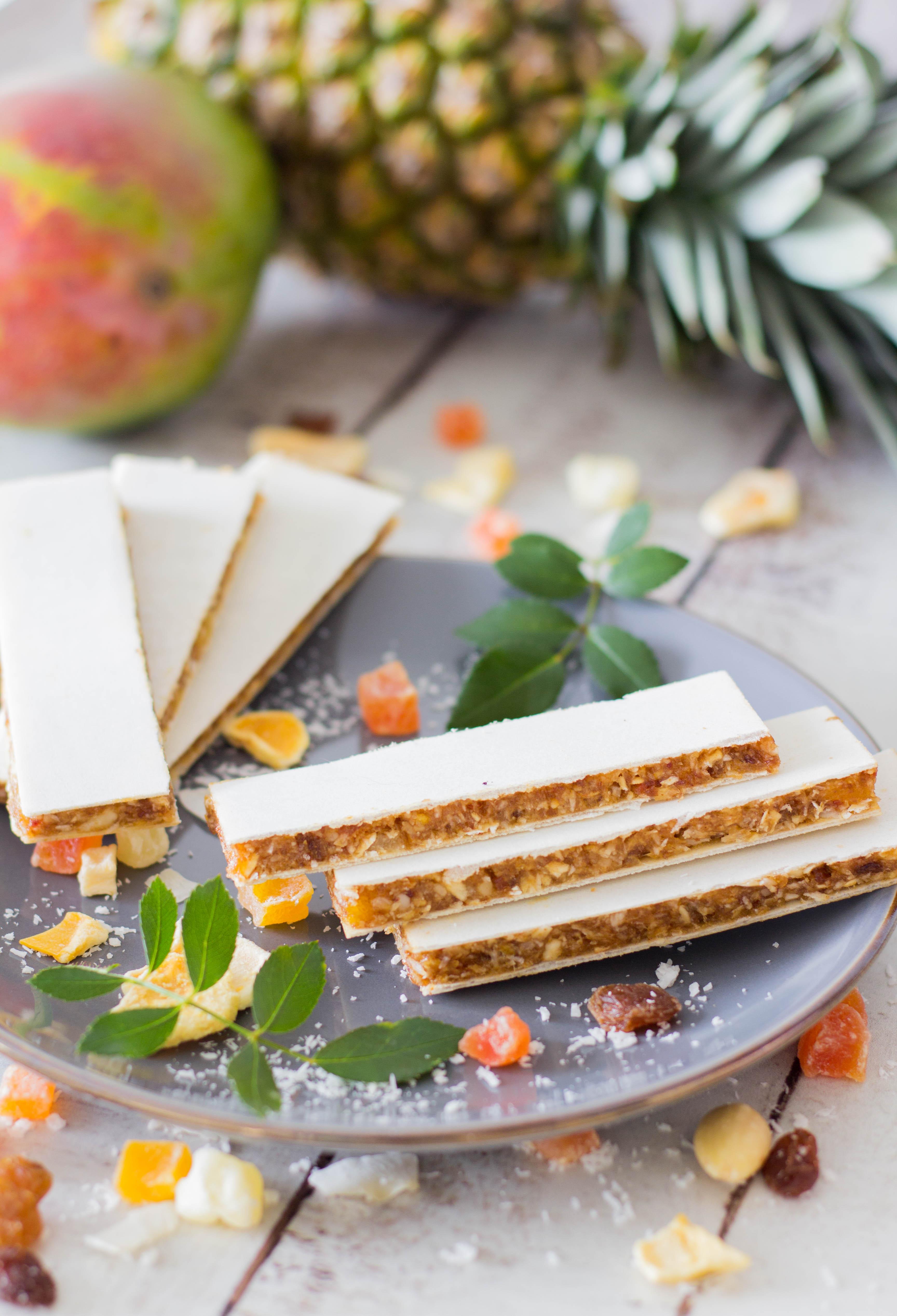 Fruchtriegel - gesunder, fruchtiger Snack für Kinder - ohne Backen, ohne Zusatz von Zucker. Leckere und gesunde Zwischenmahlzeit. Lieblingszwei.de