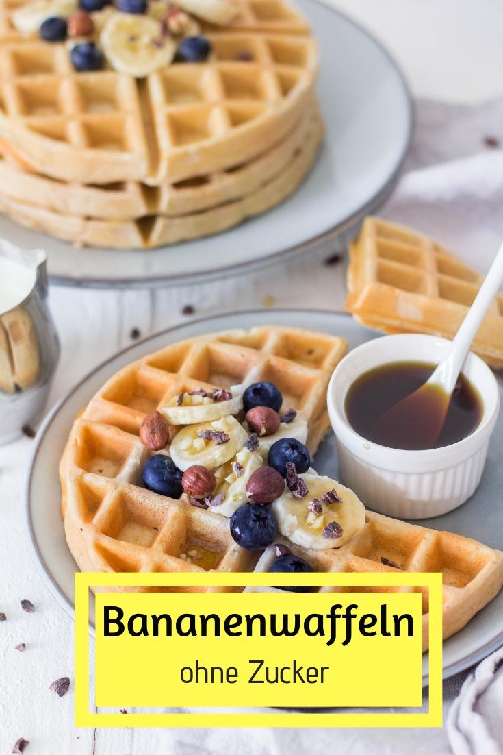 Bananenwaffeln - fluffig weich und ohne Zucker. Rezeptidee für Kinder. Lieblingszwei.de