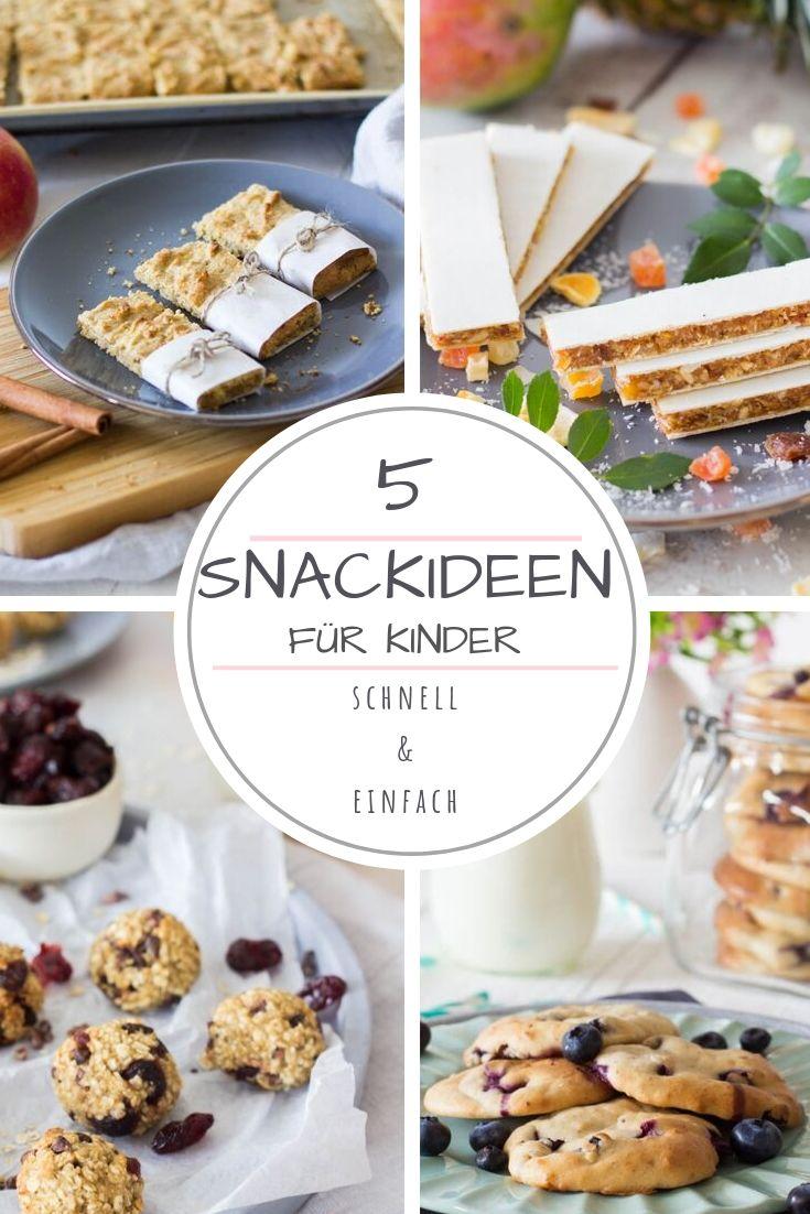 5 Snackideen für Kinder - Backen ohne Zucker. Gesunde, leckere Snacks für zwischendurch. Perfekt auch für Kita / Schule. Lieblingszwei,.de