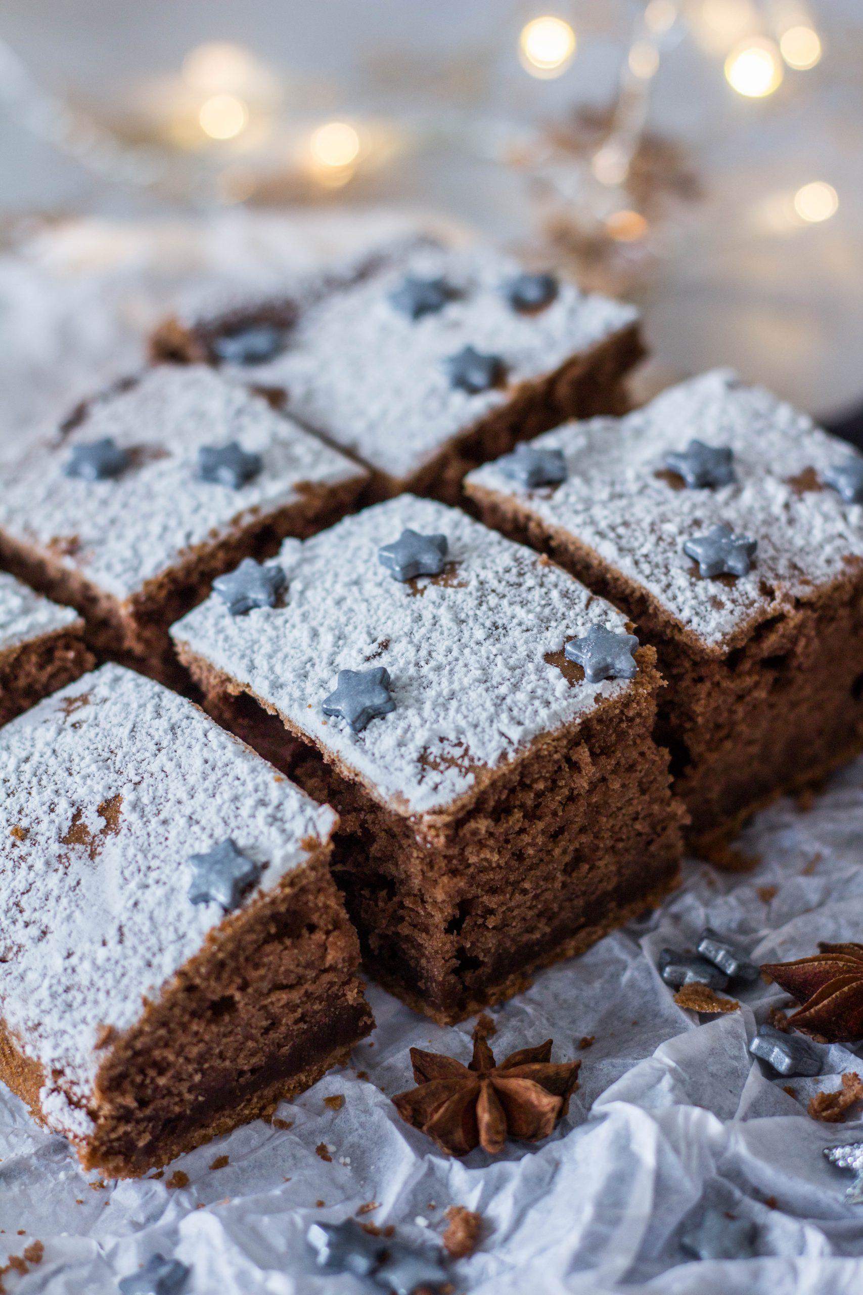 Lebkuchen Schnitten ohne Zucker - schmecken der ganzen Familie. Lieblingszwei.de