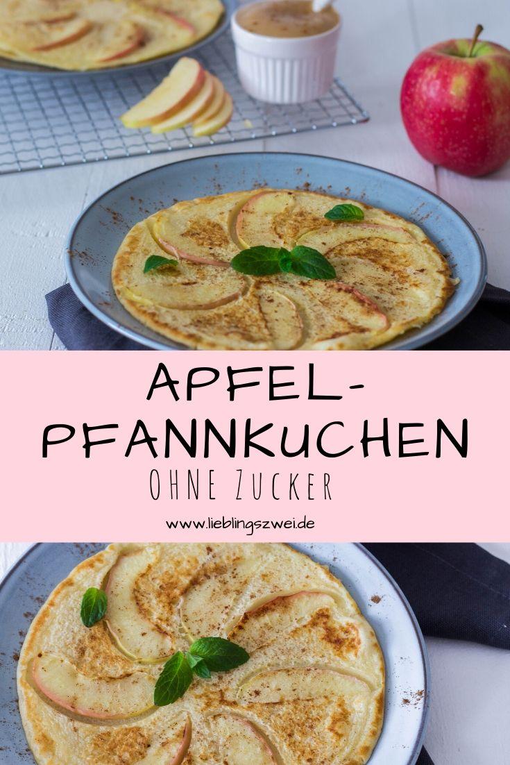 Apfelpfannkuchen ohne Zucker für die ganze Familie - schnell und einfach zubereitet. Lieblingszwei.de