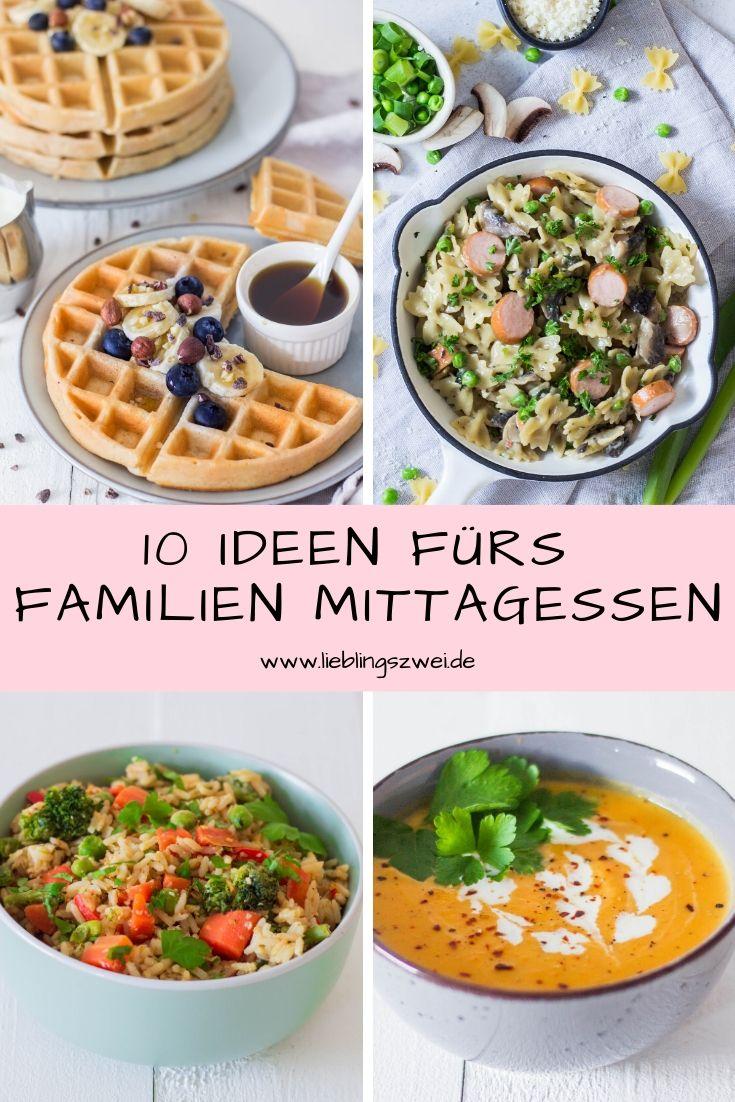 10 Ideen fürs Familien-Mittagessen