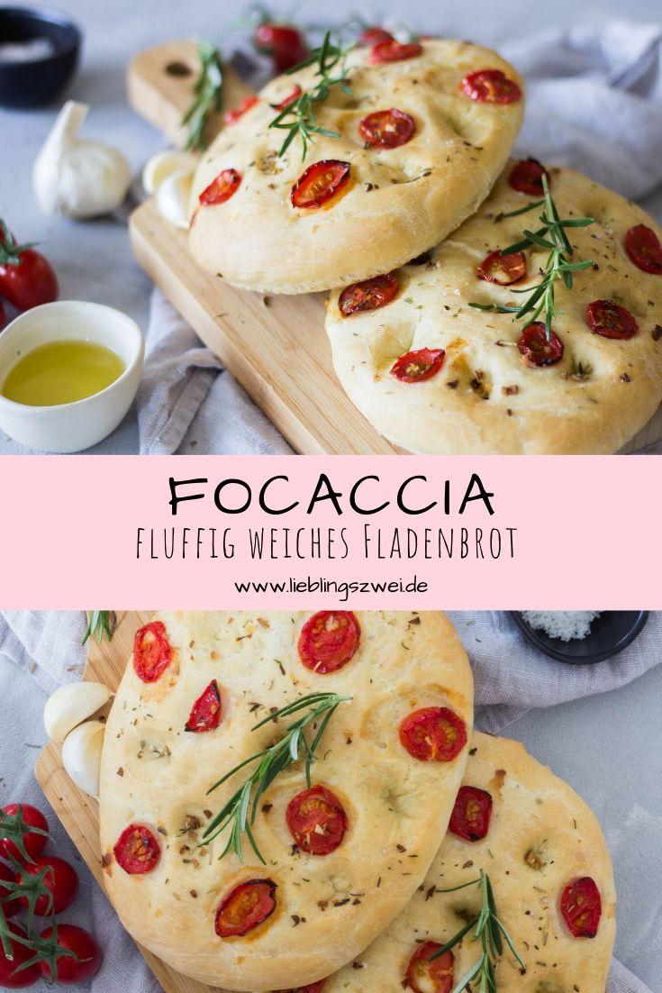 Focaccia - leckere Grillbeilage. Fluffig weiches Fladenbrot.