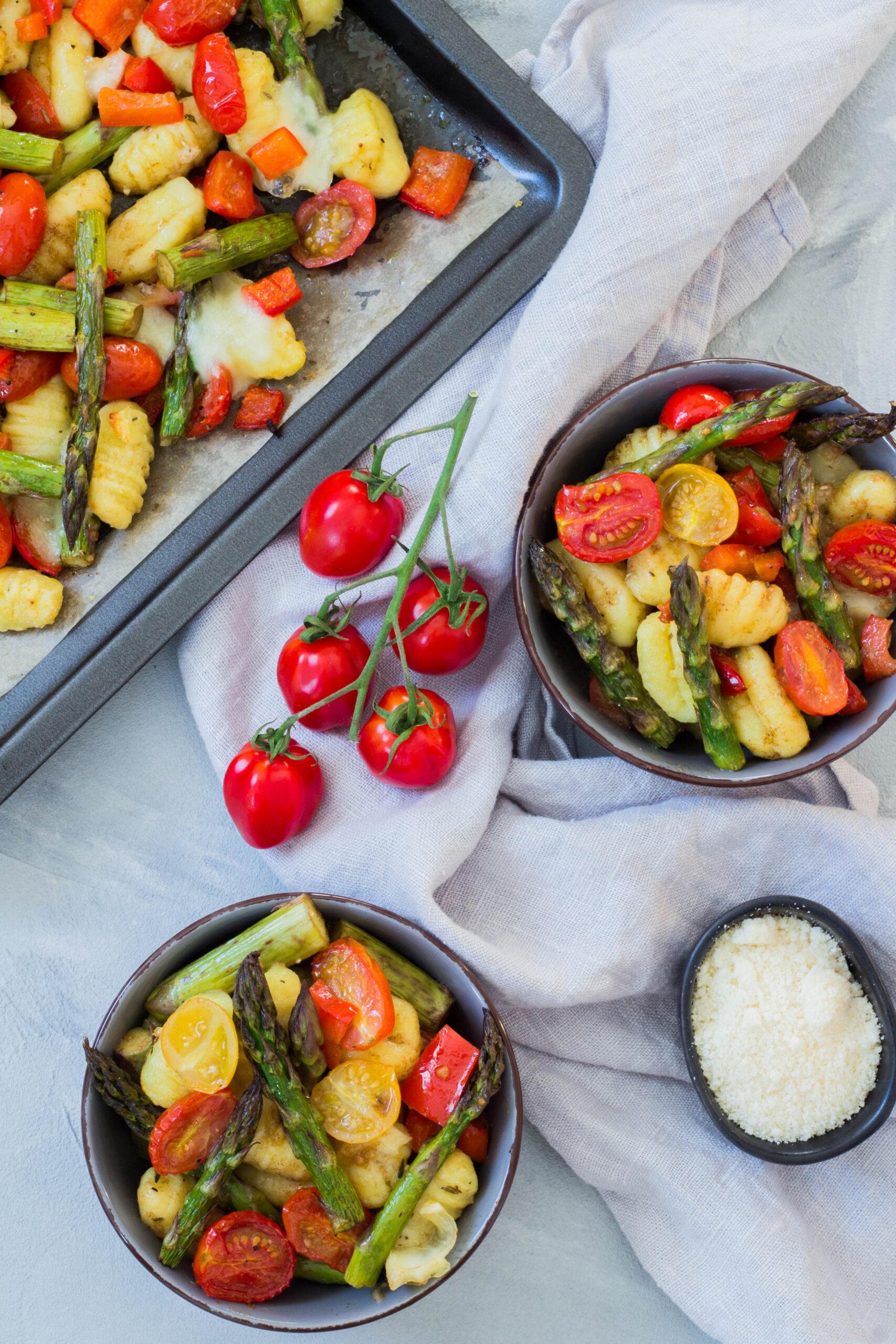 Gnocchi mit grünem Spargel - leckeres und gesundes Essen für die ganze Familie.