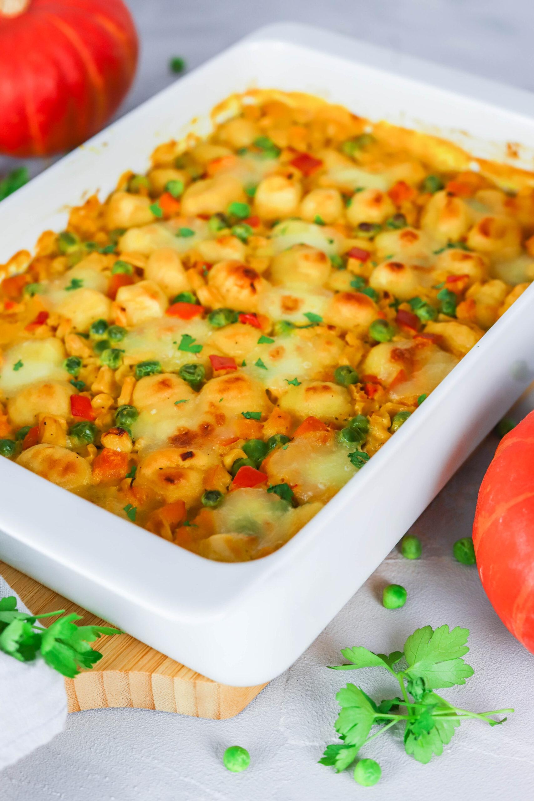 Gnocchi-Kürbis Auflauf - herbstliches Soulfood für die ganze Familie.