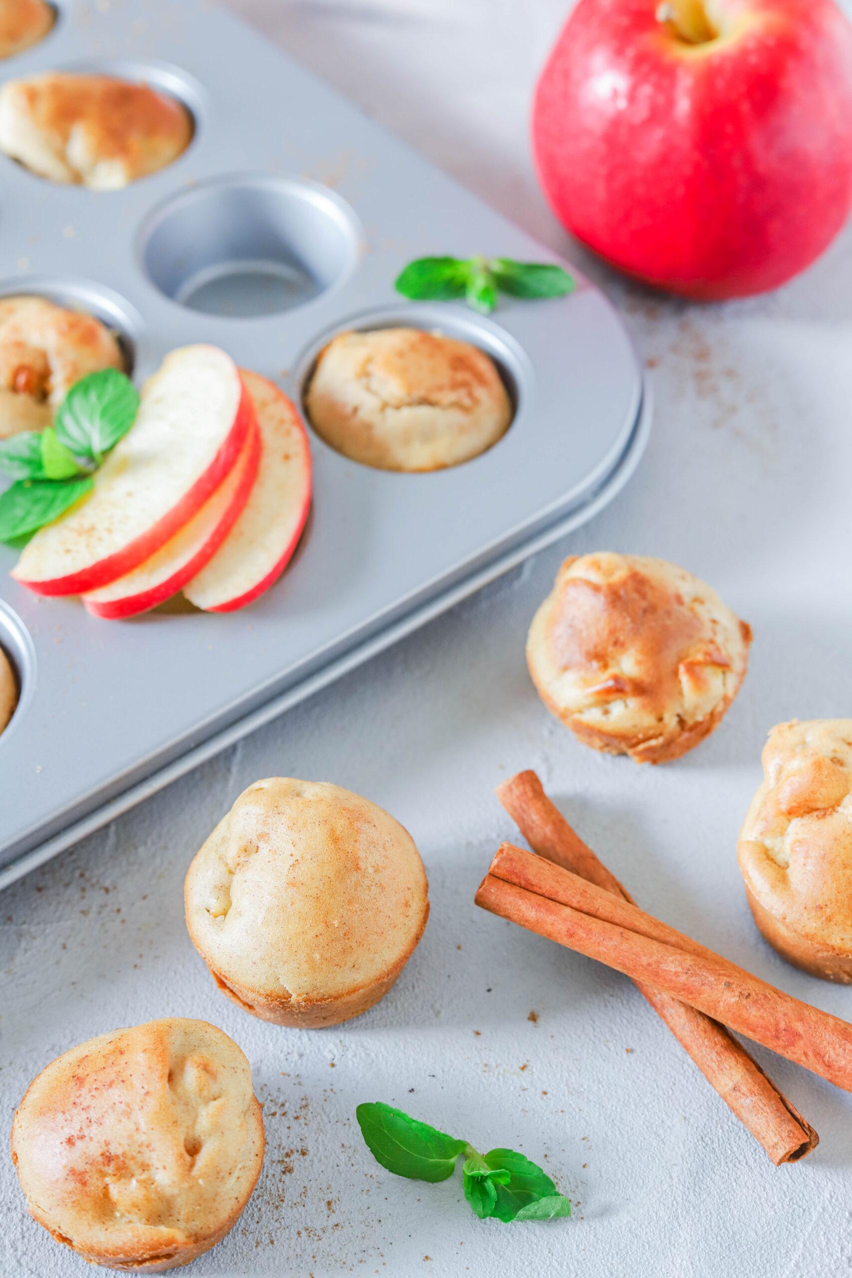 Mini Muffins mit Apfel & Zimt: ein gesunder Snack für Kinder