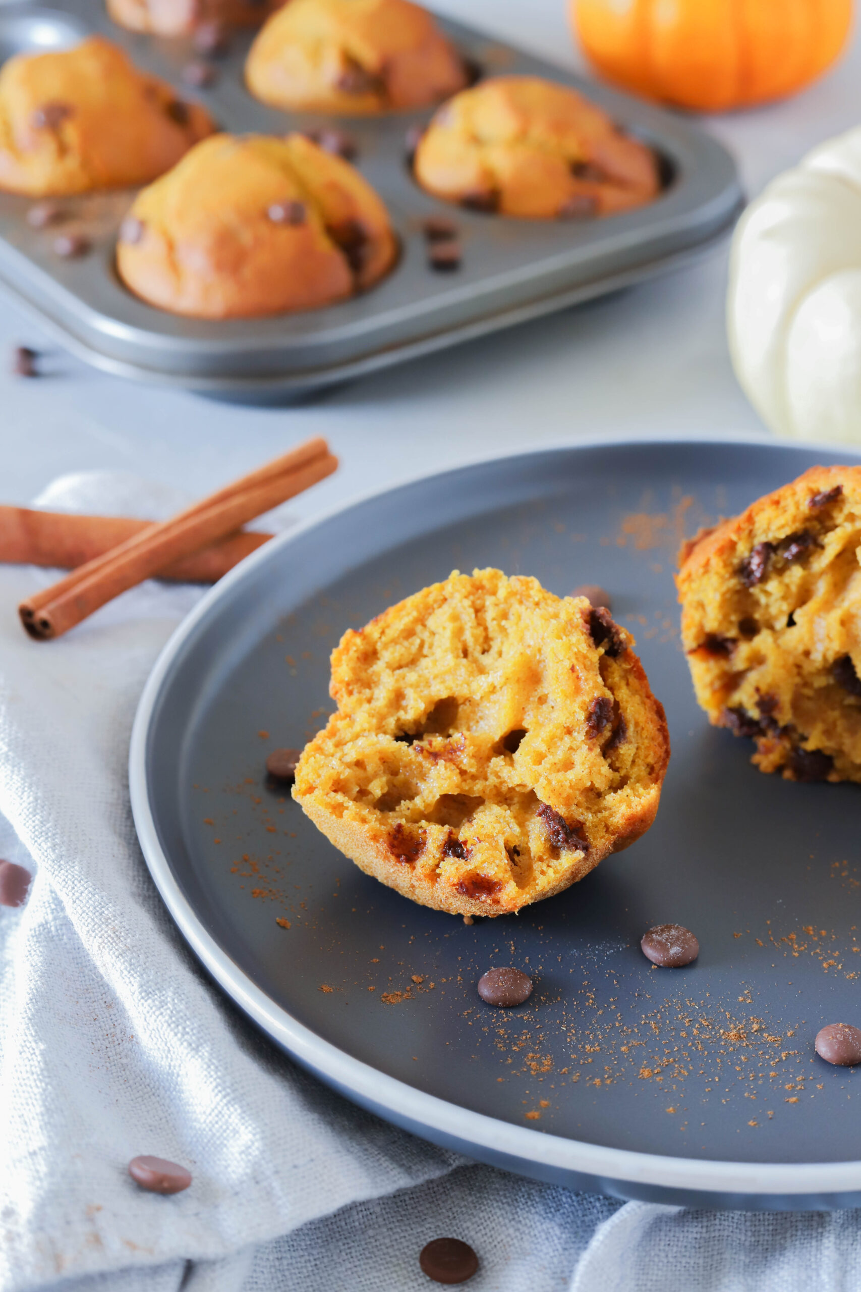 Schnelle Kürbismuffins - schmecken nicht nur Kindern und sind super schnell zubereitet.