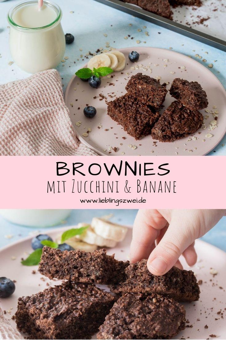 Gesund und lecker: Brownies mit Zucchini und Banane. Perfekt für zwischendurch.