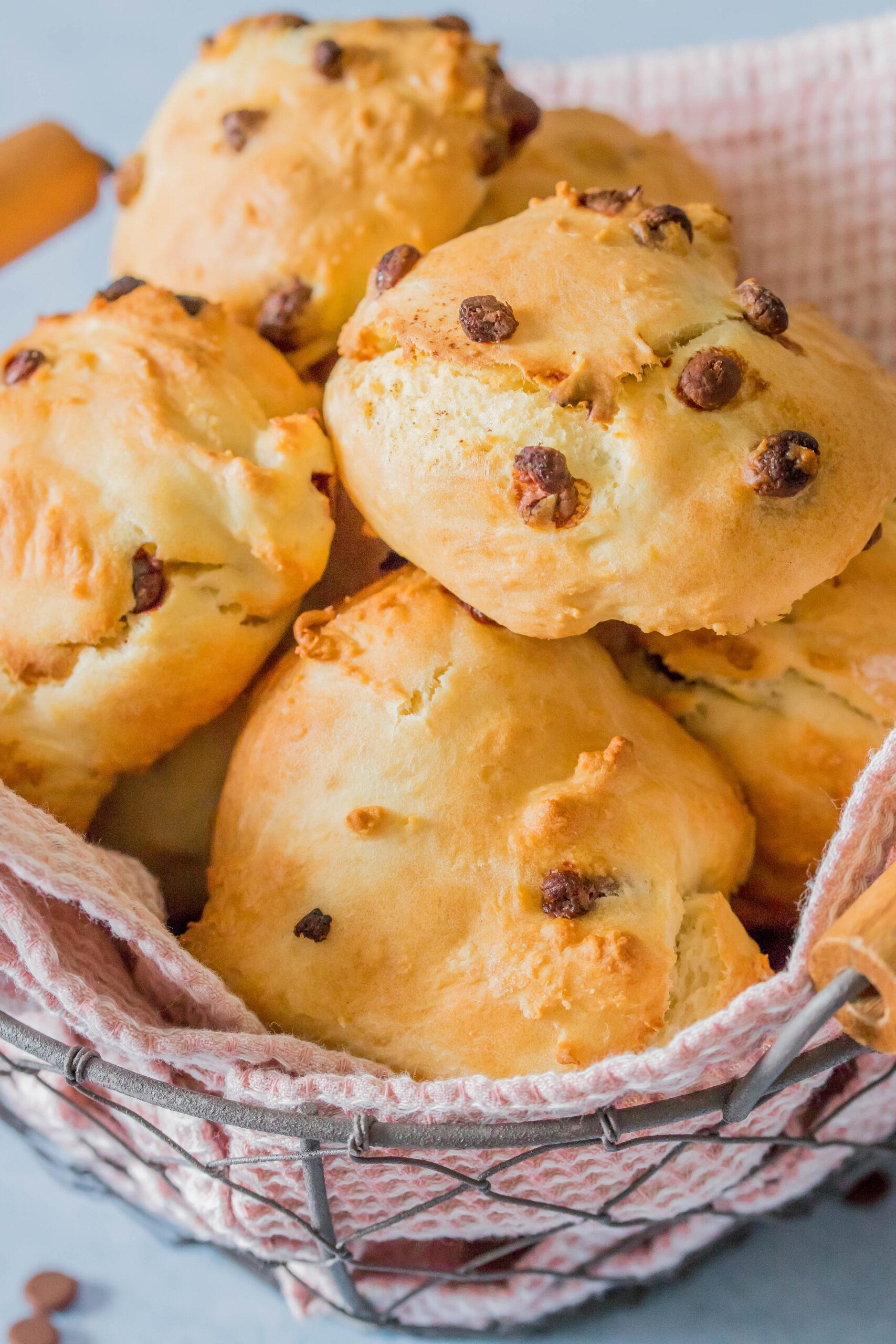Schoko-Quarkbrötchen - super für zwischendurch- Perfekter Snack für die Lunchbox.
