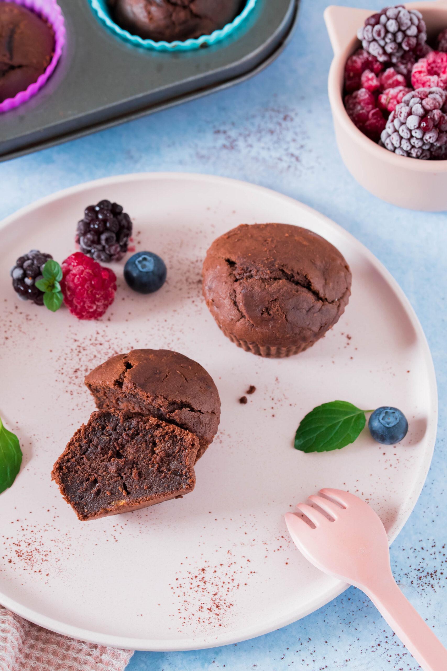 Schoko-Süßkartoffelmuffins schnelle, gesunde Muffins ohne Zucker.