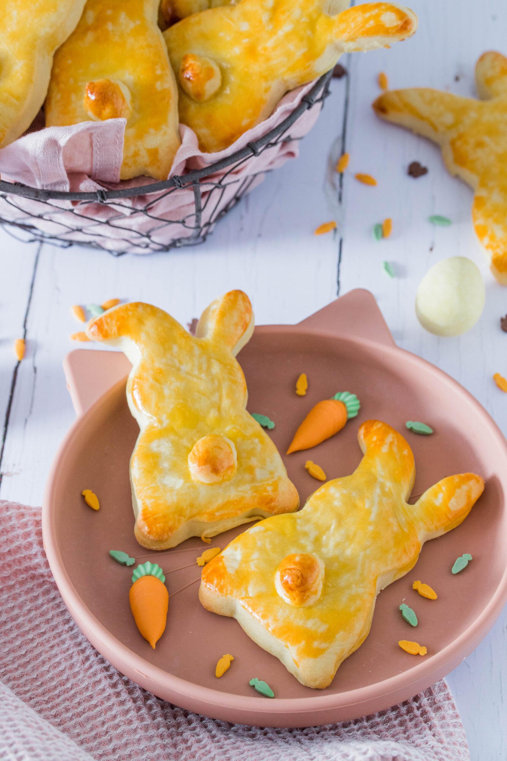 Hefehäschen für den Osterbrunch - lecker & mit wenig Zucker