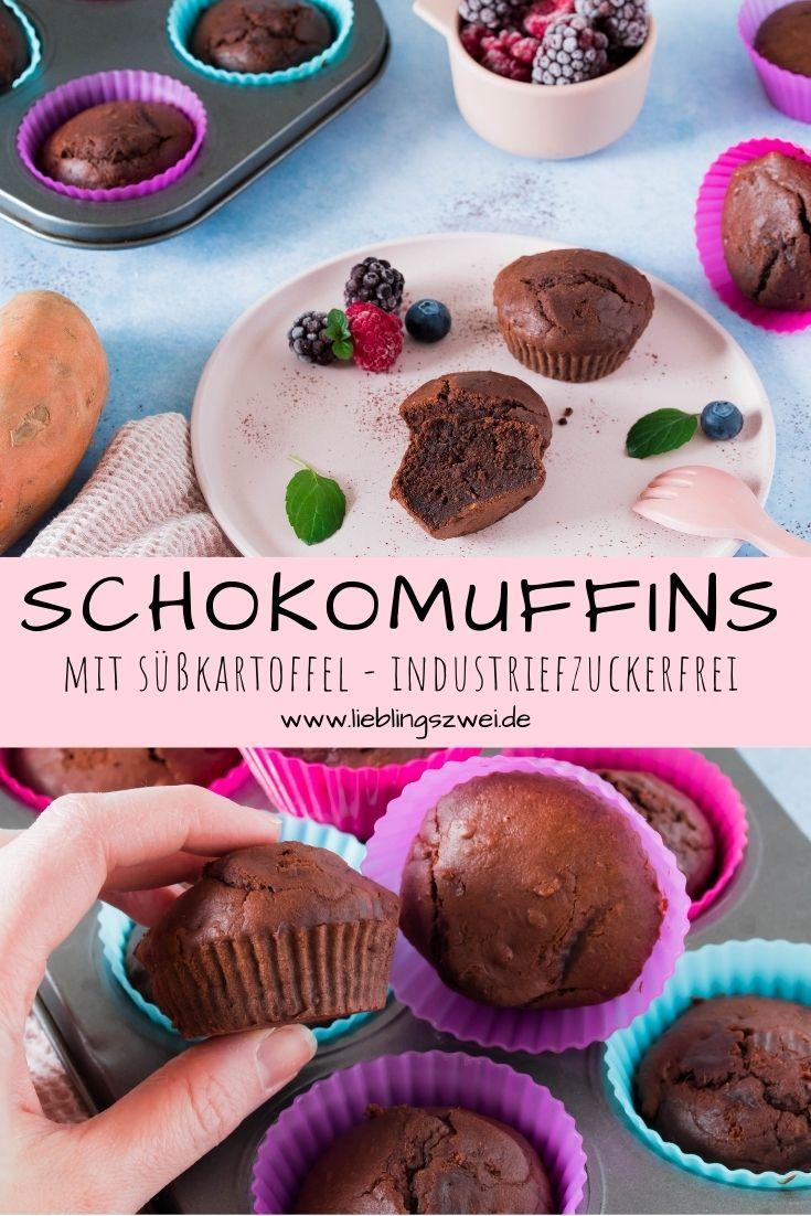 Schokomuffins mit Süßkartoffel - lecker & gesund - ohne Zuckerzusatz