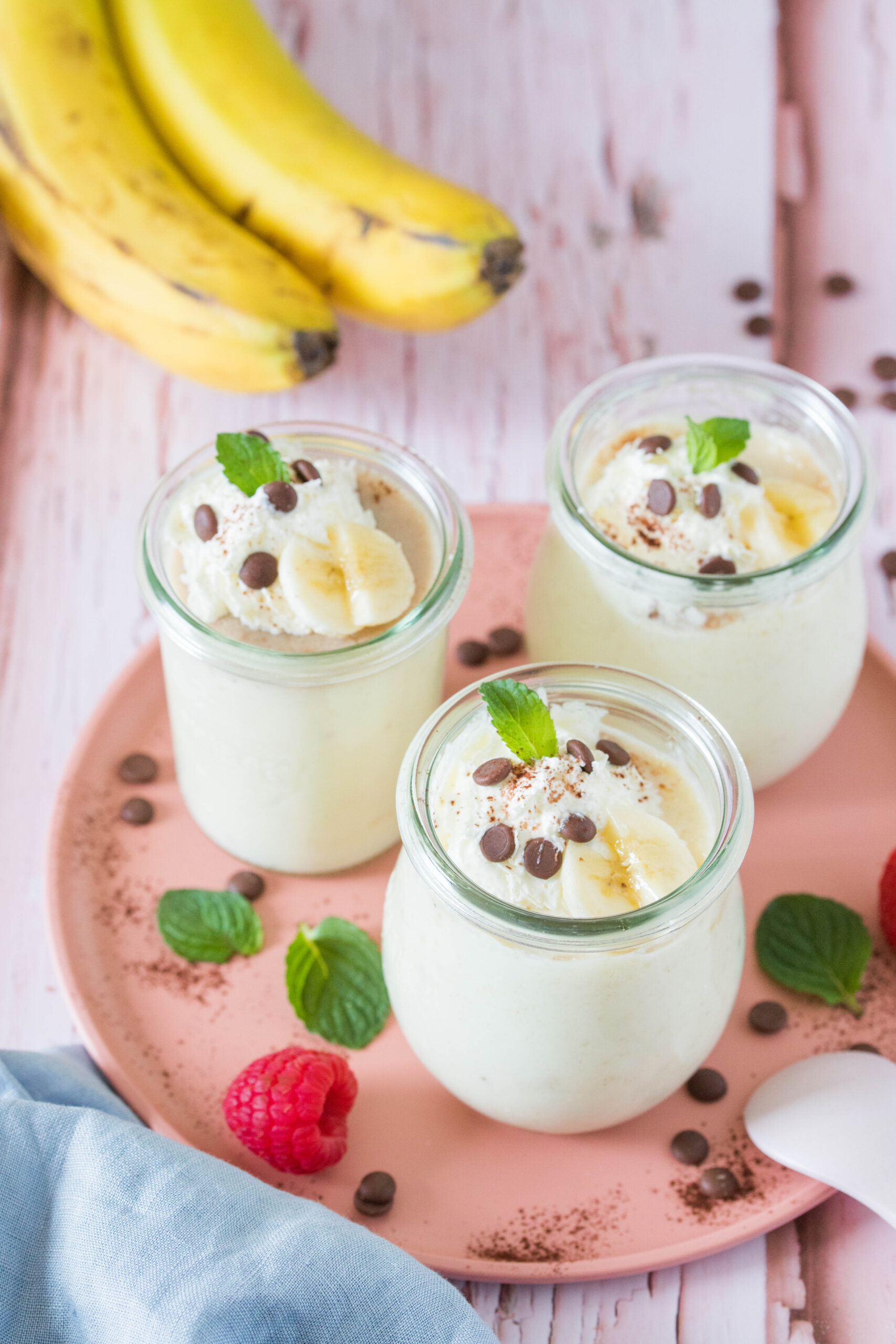 Bananenpudding - ein schnelles Dessert für Kinder. Lecker und einfach.
