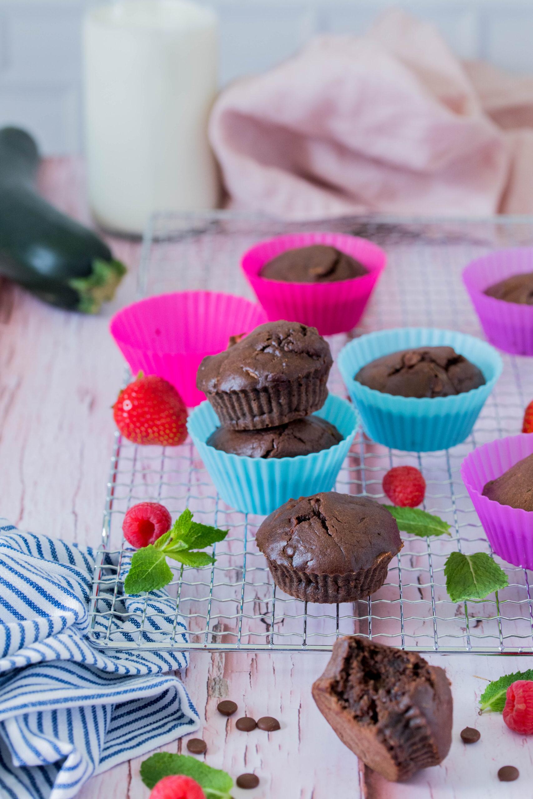 Schoko-Zucchini Muffins - schneller Snack für Kinder