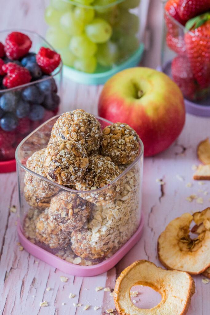 Apfel-Zimt Energiebällchen - ein Rezept aus meinem Brotdosen eBook
