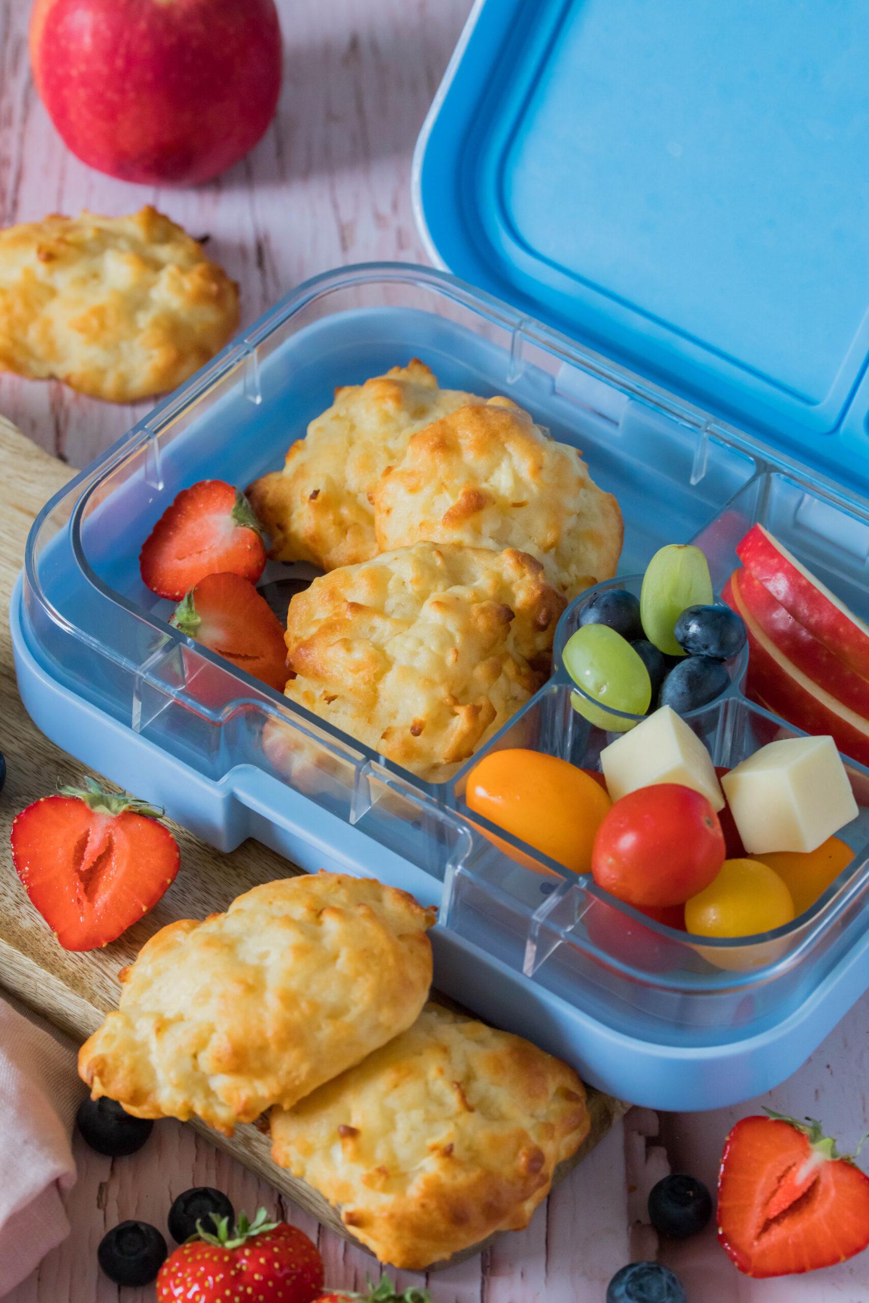 Gesunde und leckere Brotdosenidee- fluffig weiche Apfel-Quark Wölkchen