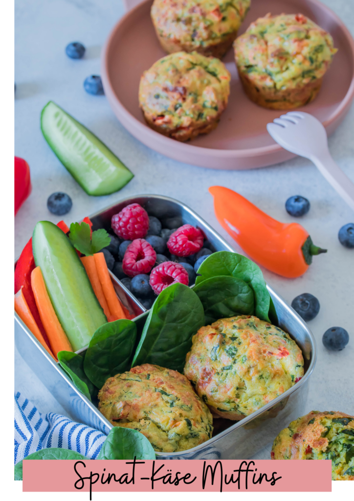 """Spinat-Käse Muffins aus dem eBook """"Lieblingsrezepte für die Brotdose"""""""