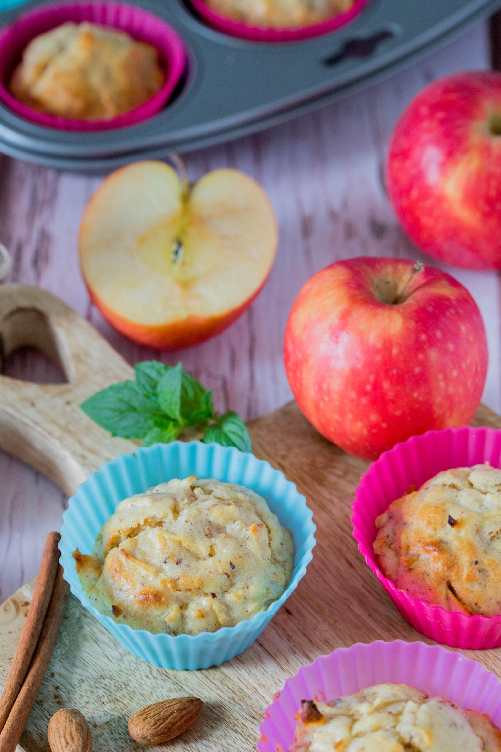 Gesund, einfach und lecker: Apfel-Nuss Muffins für Kinder