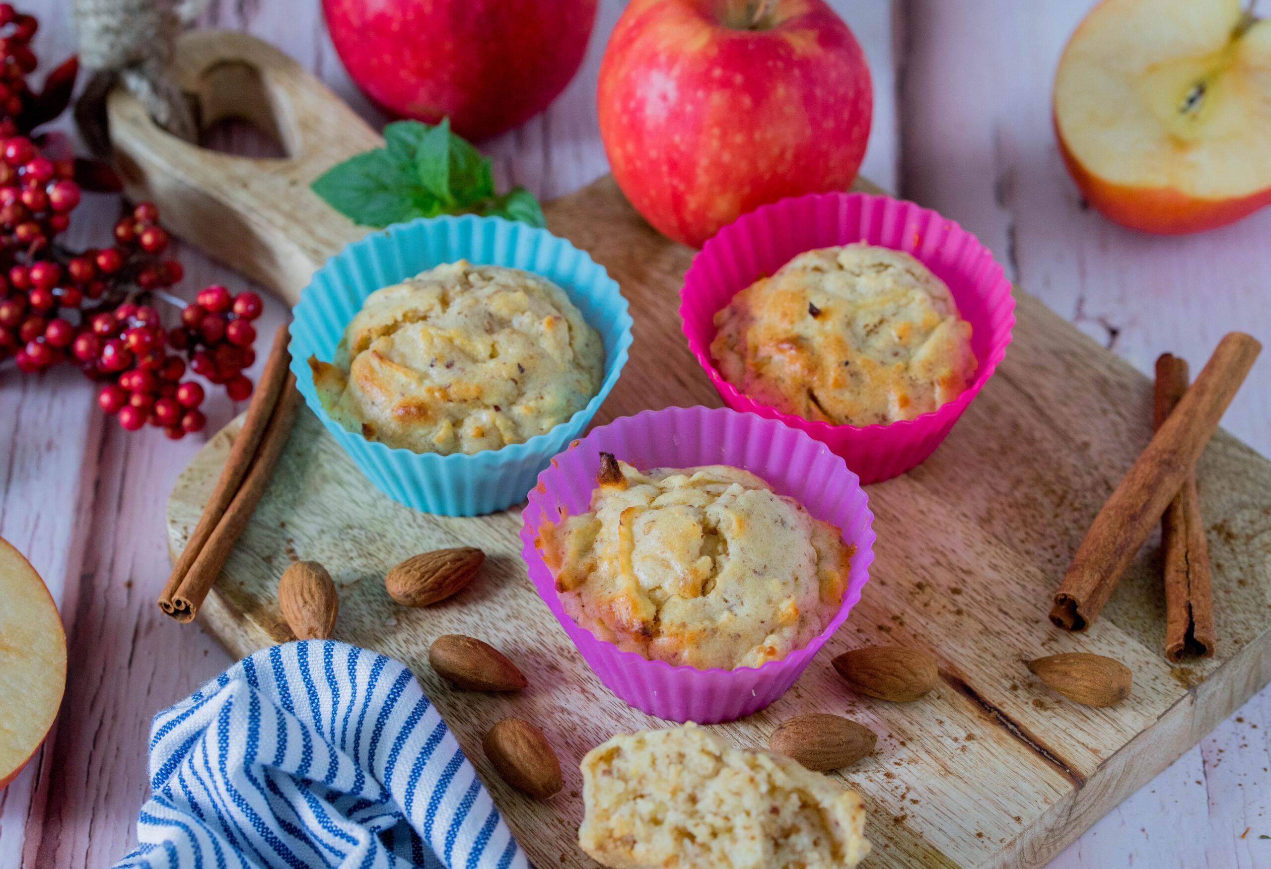 Muffins mit Äpfeln & Zimt - ein herbstlicher Snack für Kinder